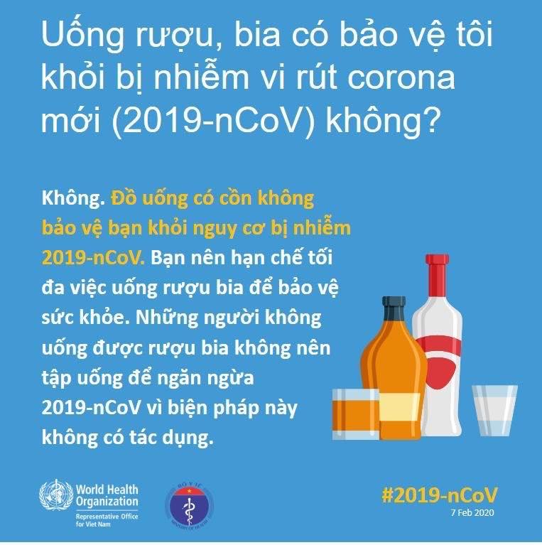 Uống rượu chữa covid-19